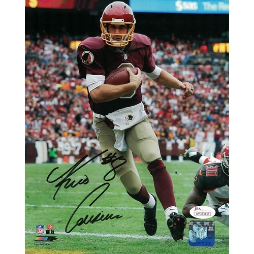 Kirk Cousins Autographed Washington Redskins 8x10 Photo Running JSA