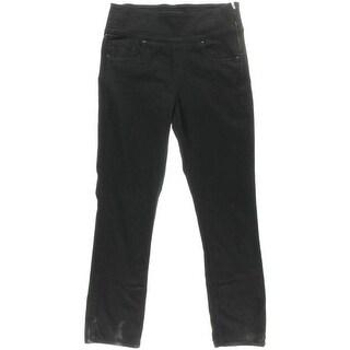 Spanx By Sara Blakely Womens Twill High Waist Straight Leg Jeans - 27