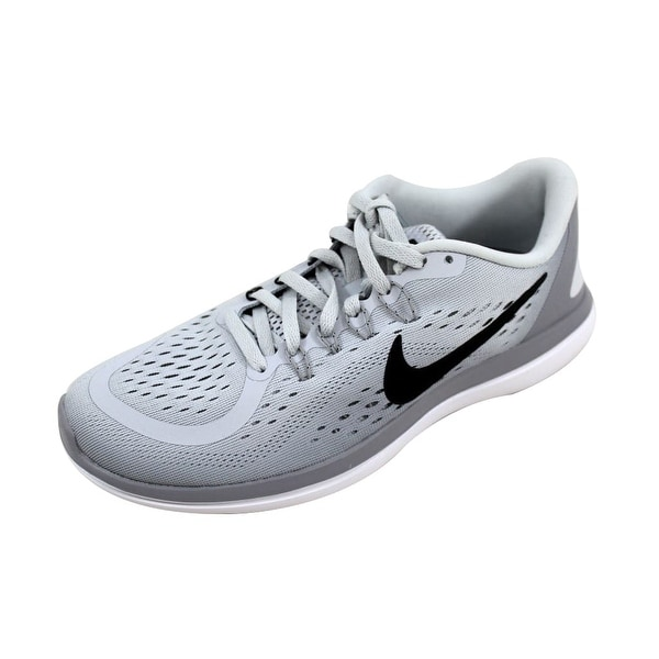 e715ca5faf8f Shop Nike Women s Flex 2017 RN Pure Platinum Black-Wolf Grey 898476 ...