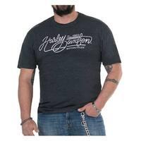 Harley-Davidson Men's Canyon Carving Crew Short Sleeve T-Shirt, Vintage Black