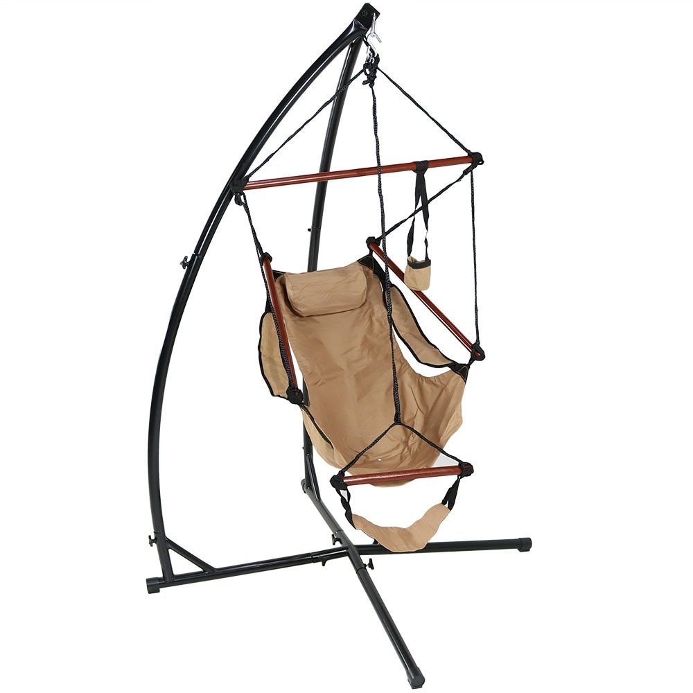 Sunnydaze Durable X-Stand and Hanging Hammock Chair Set or X-Chair Stand ONLY - You Choose - Thumbnail 10