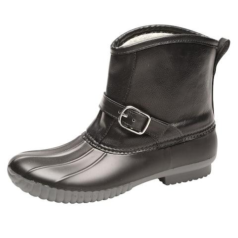 "Avanti Womens Samba Rain Boots - Sherpa Lined Duck Boot, 1/2"" Heel Rai"