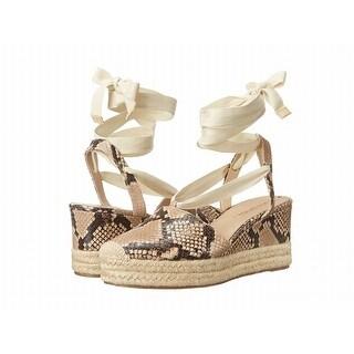 Via Spiga NEW Beige Women's Shoes Size 7M Ralina Leather Wedge