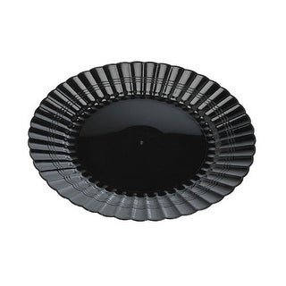 "Resposable 10"" Plate Black Pack Of 18"