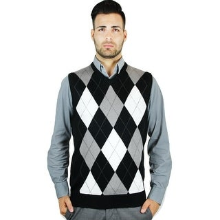 Men's Argyle Sweater Vest (SV-255)