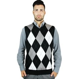 Men's Argyle Sweater Vest (SV-255)