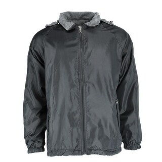 Ten West Apparel Men's Reversible Fleece and Windbreaker Rain Jacket
