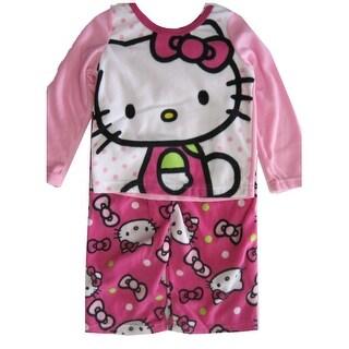 Hello Kitty Girls Fuchsia Kitty Image Dot Print 2 Pc Pajama Set 8-10