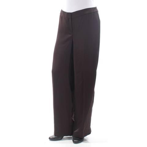 ALFANI Womens Brown Wear To Work Pants Size 12