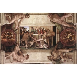 Easy Art Prints Michelangelo's 'Sacrifice of Noah, Sistine Chapel' Premium Canvas Art