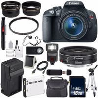 Canon EOS Rebel T5i 18 MP CMOS Digital SLR Camera (International Model) + 58mm 2x Telephoto Lens Bundle