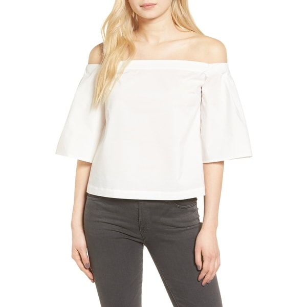126f0882e5ad6 Shop Trouve White Womens Size Small S Off-Shoulder Kimono Sleeve Blouse -  Free Shipping On Orders Over  45 - Overstock.com - 22201923