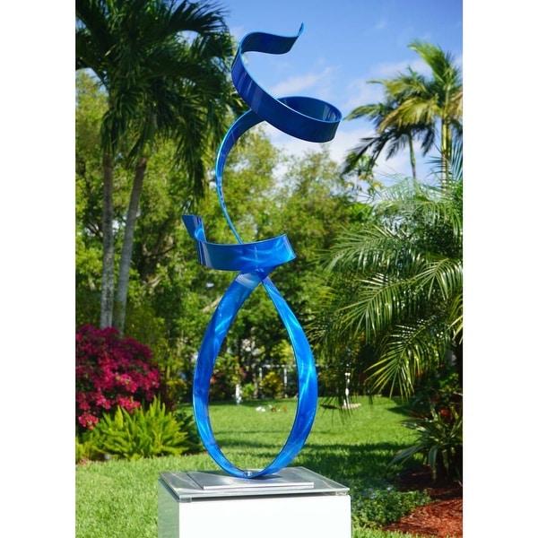 Statements2000 Abstract Metal Art Sculpture Indoor Outdoor Decor by Jon Allen - Allure Flat Base