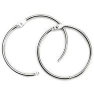 "Silver - Book Ring 3"" 1/Pkg"