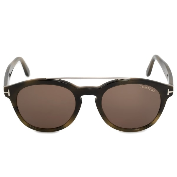 29b7a22479 Shop Tom Ford Newman Round Sunglasses FT0515 55E 53 - Ships To ...