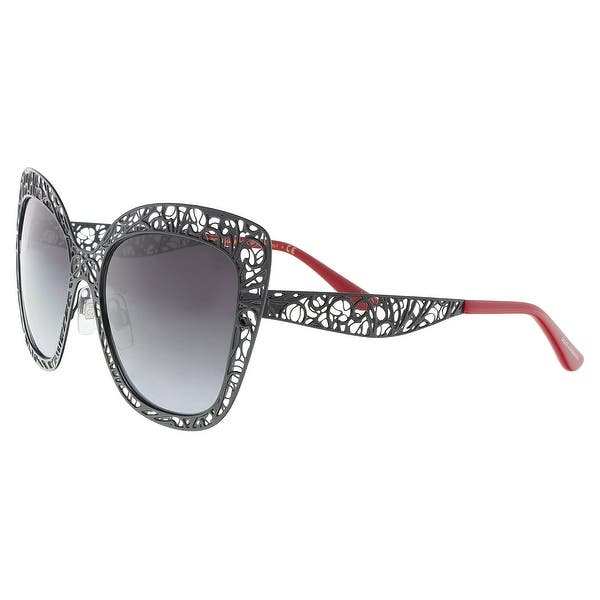 f686e277c973 Shop Dolce & Gabbana DG2164 01/8G Black Cat Eye Sunglasses - 56-18 ...