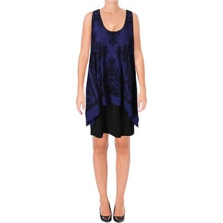 SLNY Womens Casual Dress Velvet Popover (5 options available)