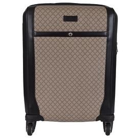 "Gucci 293909 Beige Supreme Canvas Diamante 22"" Trolley Suitcase Luggage Bag"