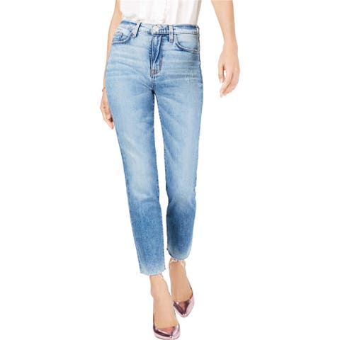 Hudson Womens Zoeey Straight Leg Cropped Jeans