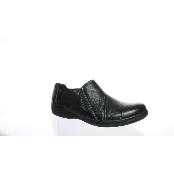 446186f102f Shop Clarks Womens Cheyn Clay Black Leather Loafers Size 9 - Free Shipping  Today - Overstock - 27876720