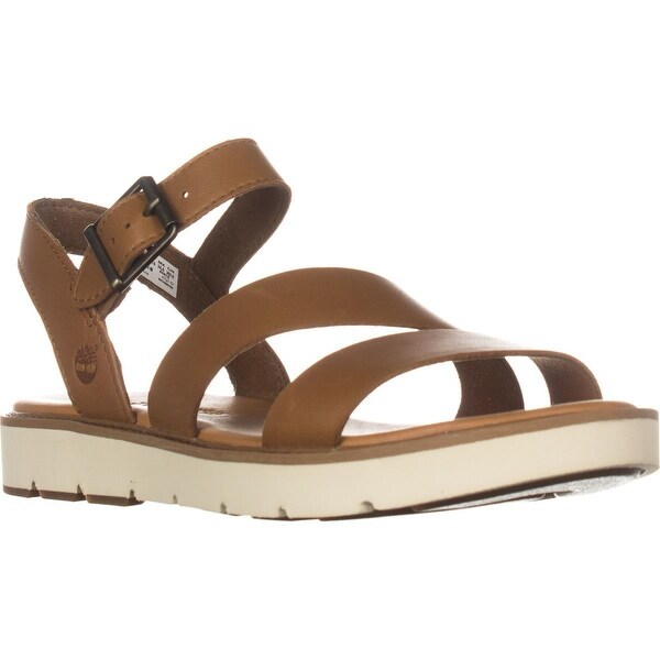 Timberland Bailey Park Asymmetric Y-Strap Flat Sandals, Medium Brown