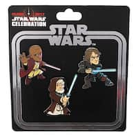 Star Wars Celebration 2017 Enamel Pin Set: Mace Windu, Obi Wan, and Anakin