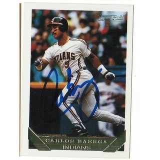 Carlos Baerga Cleveland Indians Autographed 1993 Topps Gold Card