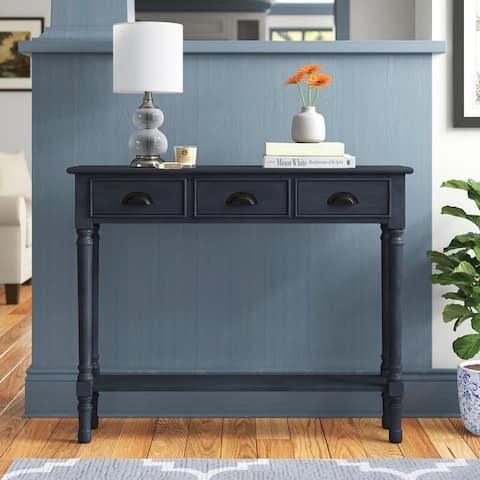 Burlington 39.5-inch 3-drawer Wood Console Table