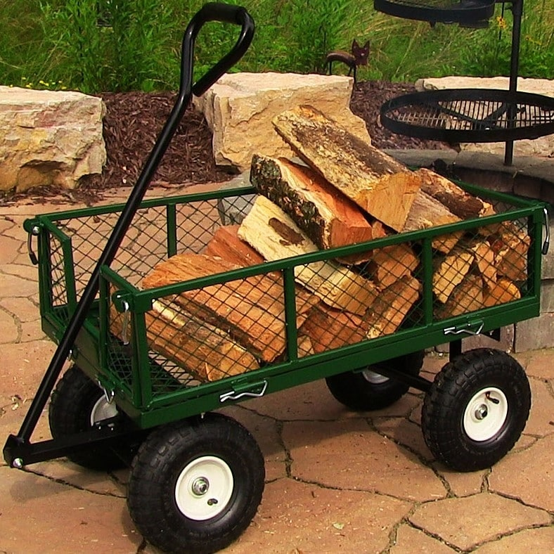 Sunnydaze Heavy-Duty Steel Log Cart, 34 Inches Long x 18 Inches Wide, 400 Pound Weight Capacity - Thumbnail 23