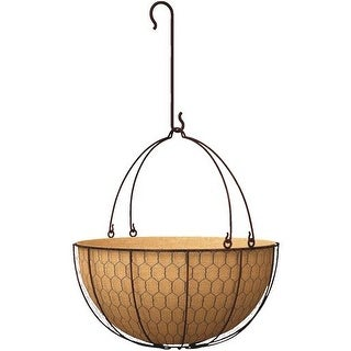 """Panacea Products 14"""" Rustc Hanging Basket 84278 Unit: EACH"""