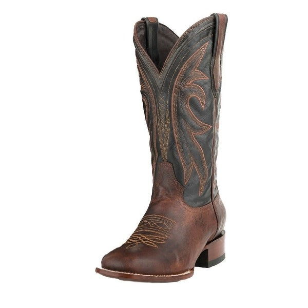 Stetson Western Boots Mens Cody Leather Brown