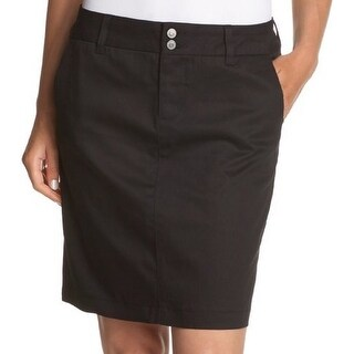 Dickies Womens Junior's Uni Double-Buttoned Twill Skirt,