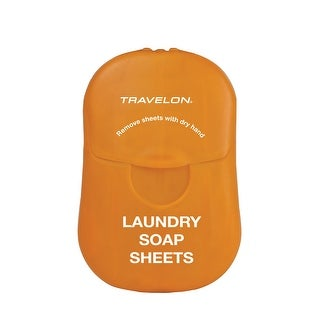 Travelon Biodegradable Travel Laundry Soap Sheets, White - Orange