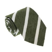 Missoni U421 Green/Cream Regimental 100% Silk Tie - 60-3