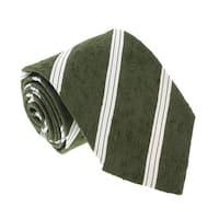 Missoni U421 Green/Cream Regimental 100% Silk Tie - 60-3