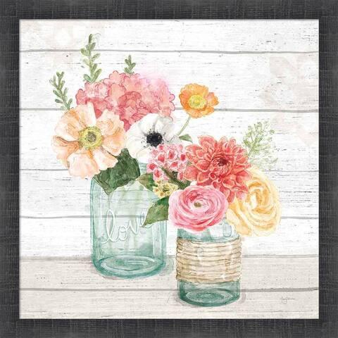 Mary Urban 'Pastel Flower Market XIII' Framed Art