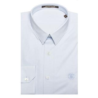 Shop Prada Men s Short Sleeve Pointed Collar Dress Shirt Sky Blue ... e423293c07