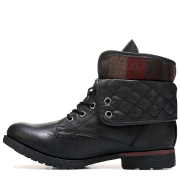ROCK & CANDY Womens Spraypaint-Q Closed Toe Ankle Fashion Boots, Black, Size 7.0