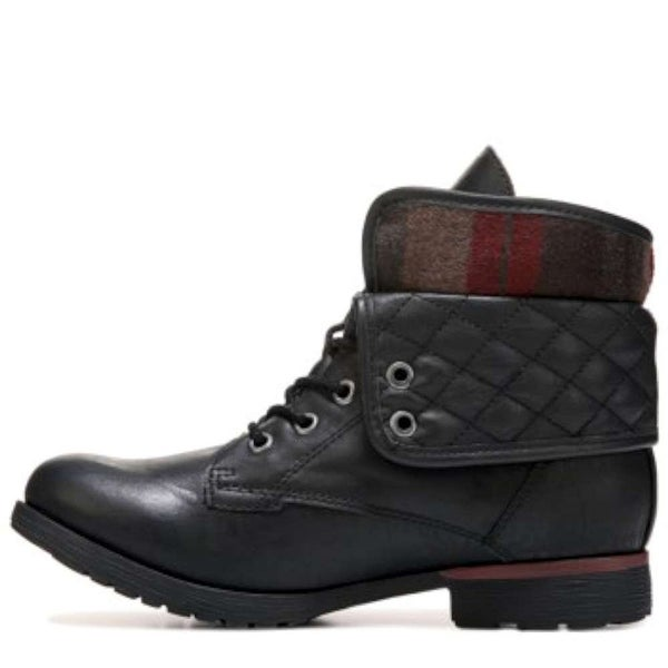 ROCK & CANDY Womens Spraypaint-Q Closed Toe Ankle Fashion Boots, Black, Size 7.5