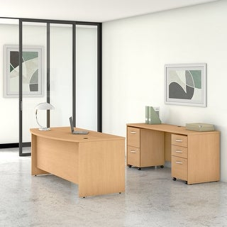 Link to Studio C 72W Desk Set with File Cabinets by Bush Business Furniture Similar Items in Desks & Computer Tables