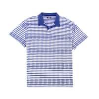 Alfani Blue Mens Size Large L Open-Collar Polo Short-Sleeve Shirt