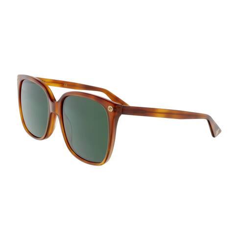 Gucci GG0022S 002 Tortoiseshell Square Sunglasses - 57-18-140