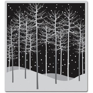 "Hero Arts Cling Stamps 4""X4""-Winter Trees"