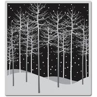 """Winter Trees - Hero Arts Cling Stamps 4""""X4"""""""