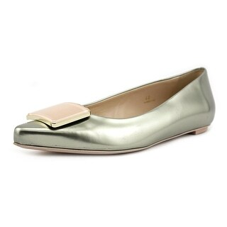 Tod's Cuoio SR Placca Racing Pointed Toe Suede Flats