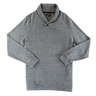 Tasso Elba NEW Gray Mens Size Large L Marled Shawl Collar Sweater