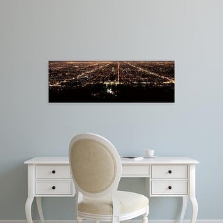 Easy Art Prints Panoramic Image 'View of a cityscape, Griffith Park Observatory, Los Angeles, California' Canvas Art