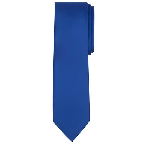 Jacob Alexander Men's Extra Long Solid Color Tie - One Size