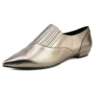 Nine West Trendy Pointed Toe Leather Loafer