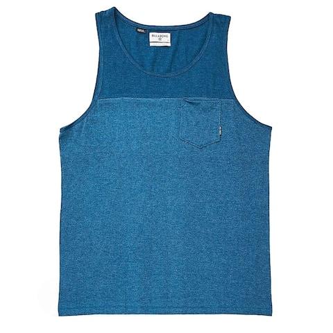 Billabong Mens Top Blue Size Medium M Colorblock Zenith Tank Pocket